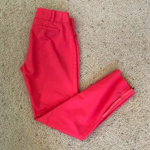 NWT, Anthropologie Cartonnier Pink Zip Ankle Pants